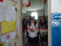 The opening of  Nor Geghi # 2 school's library